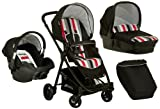 Hauck London Set Rainbow/Black Kinderwagenset, schwarz, bunte Streifen