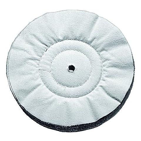 Bosch 1608611002 Disque à lustrer, flanelle (tissu lisse) 250 mm, 20 mm d'épaisseur, 1 pièce