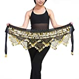 #6: Fascigirl Polyester Belly Dance Waist Chain Belt Hip Wrap Scarf with Beads and Coins