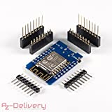 AZDelivery ⭐⭐⭐⭐⭐ D1 Mini NodeMcu mit ESP8266-12E WLAN Module für Arduino, 100% WeMos kompatibel und mit gratis eBook!