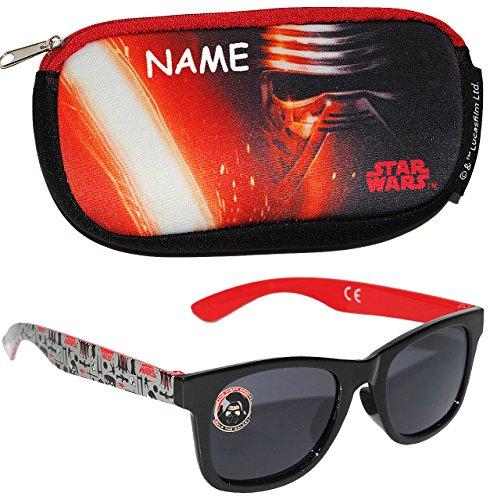 alles-meine.de GmbH 2 TLG. Set _ Sonnenbrille & Brillenetui -  Star Wars  - incl. Name - 4 bis 12 Jahre - 100 % UV Schutz - UV 400 ( passend für Kinder von 1 bis 8 Jahren - die..