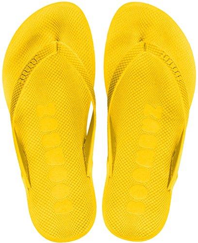 Boombuz Taiga Basic Naked Herren Zehentrenner, Zehenspreitzer, Flip Flips Gelb / Yellow