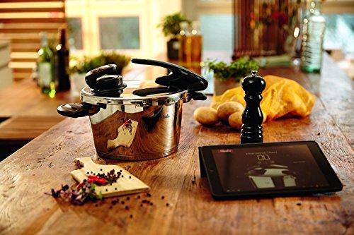 Fissler Schnellkochtopf Edelstahl vitavit premium / 4.5 L Dampfkochtopf 22 cm Durchmesser / inkl. vitacontrol digital Kochassistent / Induktion, Gas, Ceran, Elektro / - 620-304-04-070/0 -