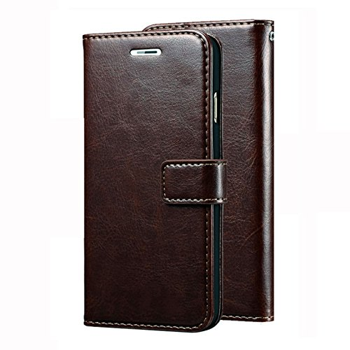 OST Vivo V3 Max Flip Flap Cover Case with Stand / Wallet / Card Holder (Coffee Brown)