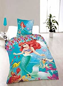 parure housse de couette 140 x 200 cm 1 taie d oreiller 70 x 90 cm linge de maison princesse. Black Bedroom Furniture Sets. Home Design Ideas