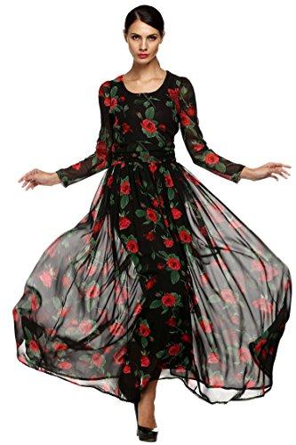 Finejo Women's Floral Dress