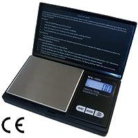 ArturoLudwig Báscula digital de precisión - Peso máximo: 1000 g/Granularidad: 0, 1 g - Color Plateado