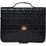 Bagabook Black Retro Embossed Design Executive Notepad Journal Book & Bible Cover w Unique Hand Strap