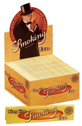 Cartine Smoking Eco King Size Canapa Lunghe - Scatola da 50 Libretti