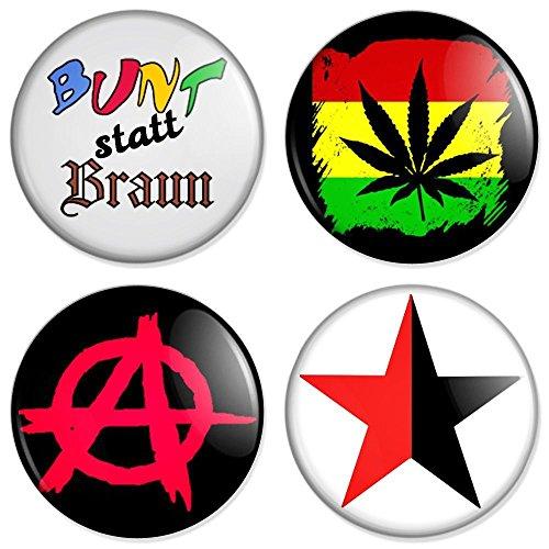 Punk Set 1 Button, Badge, Anstecker, Anstecknadel, Ansteckpin