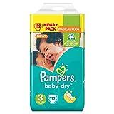 Pampers Baby Dry - Pañales, tamaño 3 (5-9 kg), 1 paquete megagrande (112unidades)