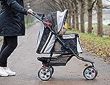 "InnoPet Hundebuggy Hundewagen schwarz Pet Stroller ""All Terrain"" klassisch Buggy für Hunde - 4"