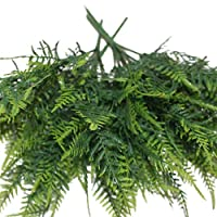 Amesii 35 Leaves Artificial Emulation Asparagus Fern Bush Green Foliage Party Decor