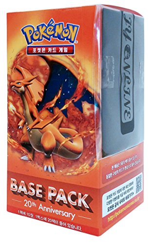 Pokémon Carte XY BREAK Busta di espansione Scatola 20 Packs in 1 scatola 20th Anniversay-Base pack : Mega Charizard coreano Ver TCG + 3pcs Premium Card Sleeve