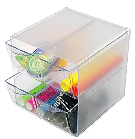 Stackable 4 Drawer Cube Storage Organizer-6