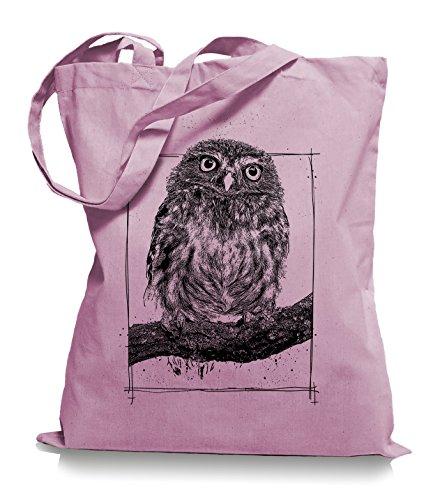 Big Owl Stoffbeutel |Eulen Eule Tragetasche Kult-classic_pink