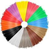 Case E PLA 12 Assorted Colours 20 Feet 3D Filament for Printer and Pens, 1.75mm Diameter, Dimensional Accuracy +/- 0.03 mm