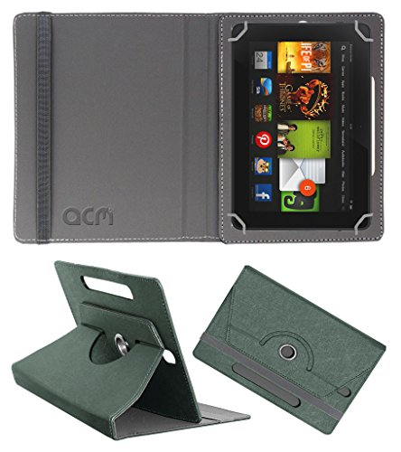 Acm Designer Rotating Leather Flip Case for kindle Fire Hd 7 2012 2nd Gen Cover Stand Grey  available at amazon for Rs.169