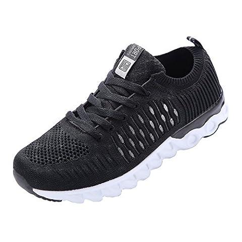 NEOKER Homme Fitness Respirant Mesh Sneakers Poids Léger Noir 40