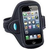 Tunebelt AB87 Schwarz Sport Armbinde Tasche Hülle für Apple iPhone 5, 5s , iPod 5G