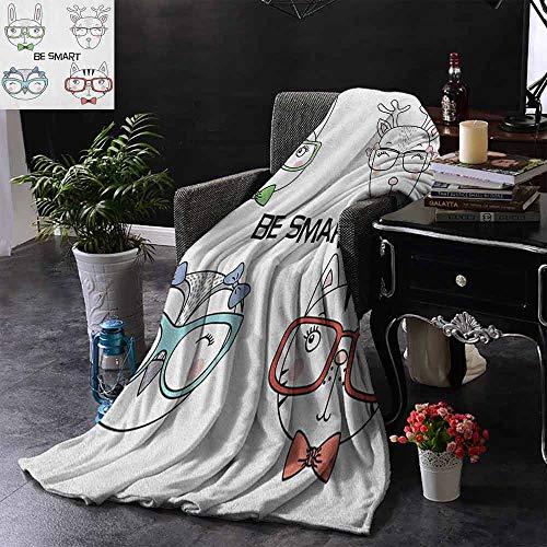 """ZSUO Vier Jahreszeiten, leicht und superweich, positives Spruch mit Aquarell-Hintergrundpinsel, Streifen, wendbar, weicher Stoff für Couch Sofa, pflegeleicht 50\""""x70\"""" Inch Color03"""