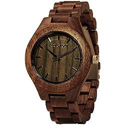 Holz Armbanduhr 360° Nut