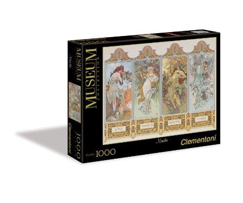 Clementoni Puzzle 39177 - Mucha - Le 4 stagioni - Modern Art 1000 pezzi