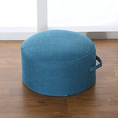 LJ&XJ Floor Cushion,Thickened Tatami Round Cushion Round Seat Cushion Linen Soft Comfortable Increase Futon Cushion
