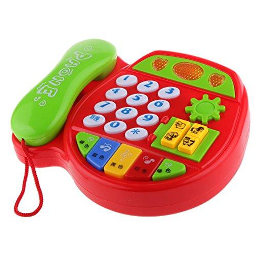Preisvergleich Produktbild Gazechimp Spieltelefon Spielzeug Karikatur Telefon Kindertelefon Plastik Kleinkinder