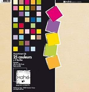 Toga - Maxi bloc Mahé 30x30, 50 feuilles de papiers scrap TOGA