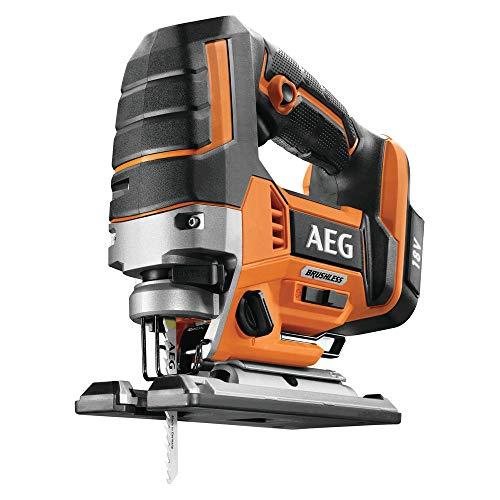 AEG 4935459654 Brushless Stichsäge (bürstenloser Motor, 18V, LED-Beleuchtung, 4 Pendelhubeinstellungen, ohne Akku) BST18BLX-0