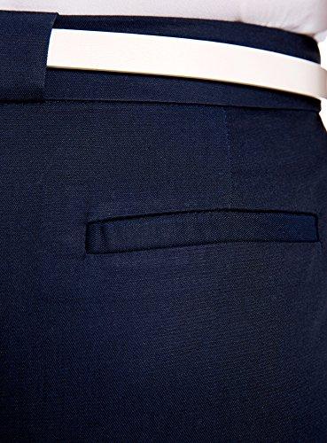 oodji Ultra Donna Pantaloni Classici con Cintura а Contrasto
