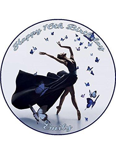 Ballet 2 personnalisé taping glaçage gâteau 19,1 cm