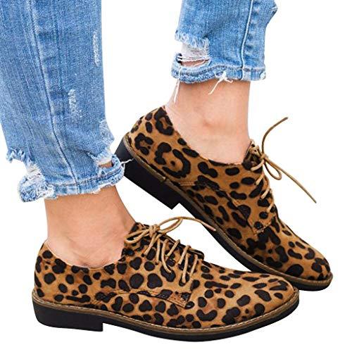 Zapatos Mujer Primavera Verano Fannyfuny Zapatillas Deportivas con Impresíon de leopardo Casual Running Gimnasia Sneakers Comodos Zapatos de Trabajo de Verano