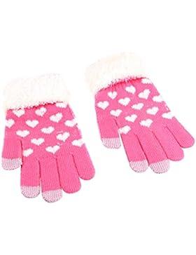TININNA Invierno caliente linda del amor del corazón de punto de punto de pantalla táctil guantes Guantes de pantalla...