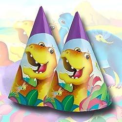 sombrero del partido Mundo dinosaurio 6 Paquete
