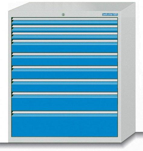 Schubladenschrank Serie 700 mit 9 Schubladen verschiedene BLH Schubladenschränke Breite 700