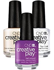 CND Creative Play Orchid You Not Nr. 480 13,5 ml mit Creative Play Base Coat 13,5 ml und Top Coat 13,5 ml, 1er Pack (1 x 0.041 l)