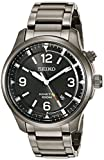Seiko Men's SKA707 Kinetic Analog Display Japanese Quartz Grey Watch