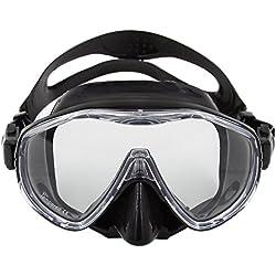 Lixada Masque de plongée sous-marine, anti-fog plongée masque, Unique fenêtre sous-marine natation