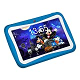 7 Zoll Kinder Tablet Android,QIMAOO Tablet kids Bilige Tablet PC 1G RAM+8G ROM Android 5.1 Quad Core 1.2 GHz mit Silikonhülle Blau