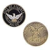 JIACUO St. Michael Atlanta Police Department Gedenkherausforderung Münzen Sammlung Token Art -
