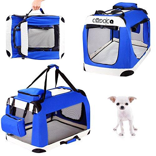 CADOCA Hunde- und Katzentransportbox faltbar Größenauswahl XS