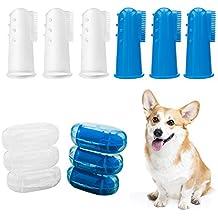 Horsky 6 pack Cepillo de dientes para mascota perro y gato silicón