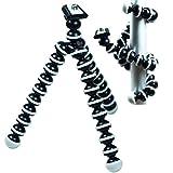 #8: VIIVA 6-inch Mini Gorilla Tripod/Monopod for Action Camera, DSLRs, SLRs, Go Pro HERO 5, HERO 4, Smartphones| 360-deg rotation with Octopus Legs + Free Hook (Black & White)