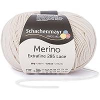Schachenmayr Merino extra Fine 285Lace 9807574–Hilo para Tejer, ganchillo hilo, Lace, lana virgen, lana, lino, 8  x  8  x  7 cm