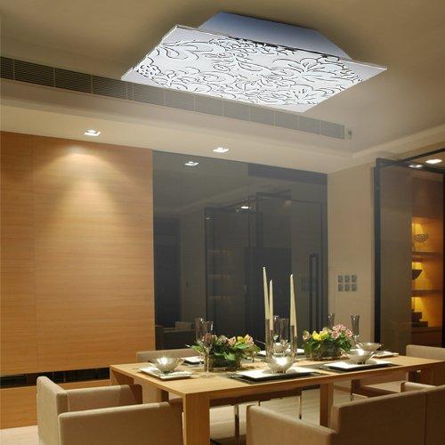 Lu-Mi® Deckenleuchte Wohnzimmer Designleuchte Deckenlampe Küchen Schlafzimmer Modern (Flora Kvader CG1)