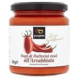 Grangusto Tomate Rojo Y Chile 290g De Salsa Para Pasta (Paquete de 6)