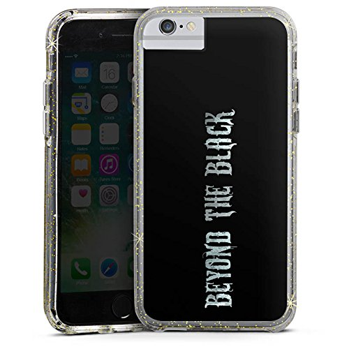 Apple iPhone X Bumper Hülle Bumper Case Glitzer Hülle Beyond The Black Merchandise Fanartikel Bumper Case Glitzer gold