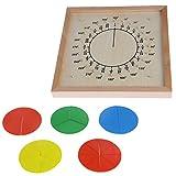 Tiyee Montessori Material Holz Circular Fractions Anzeigetafel Kid Pädagogisches Spielzeug für die Schule Home für Kinder Kinder für den Bauingenieur für Jungen und Mädchen im Alter von 3, 4 und 5 Jahren Creative Fun Set | Bestes Geschenk für Kinder ...
